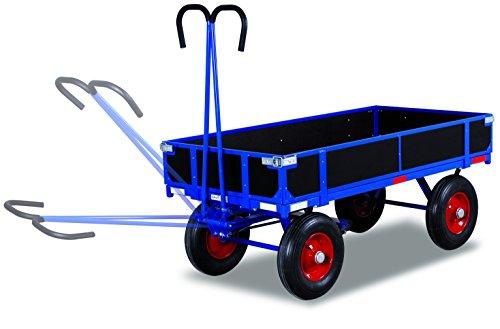 Handpritschenwagen mit Bordwand RAL5010 Enzianblau Drehachsenwagen