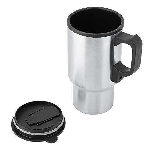 Tasse de voyage - Bouteille d'eau chaude de 12V 450mL, tasse de voyage en acier inoxydable, tasse à lait pour le chauffage de voiture électrique