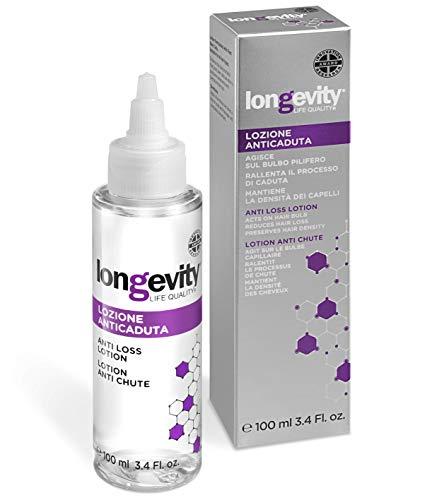 Longevity® – Loción anticaída – Productos a base de células madre para hacer el cabello fuerte y anticaída – Prolonga el ciclo de vida del cabello