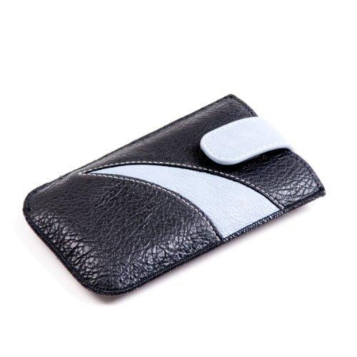 NFE² Etui schwarz blau, Ausziehlasche & flache Gürtelschlaufe für Nokia 3330