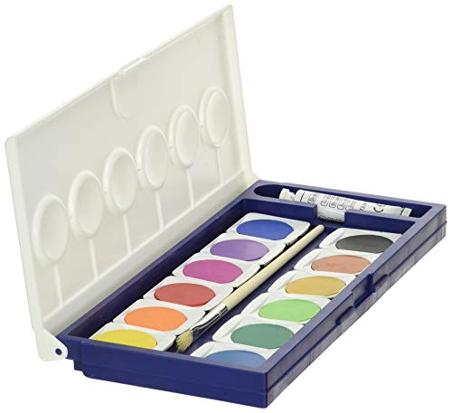 LYRA Watercolor Paint Set, 12 Opaque Colors with Brush Plus 1 Tube of White, Assorted Colors (8117121)