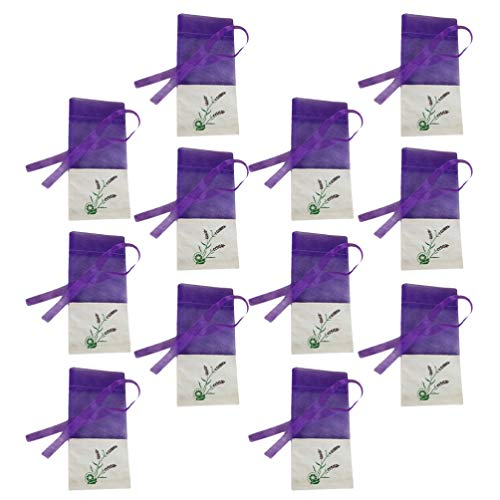 Yardwe 12pcs Lavender Sachets Bags Empty Dried Lavender Bags Flower Sachets Bags Lavender Pouches for Drawers Closets Fresh Scents