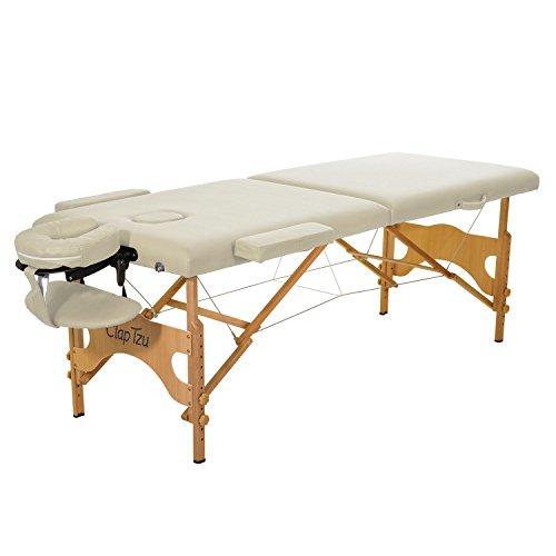 Mobile Massageliege Clap Tzu ECONOMY COMFORT SET, 184x70 cm, crema
