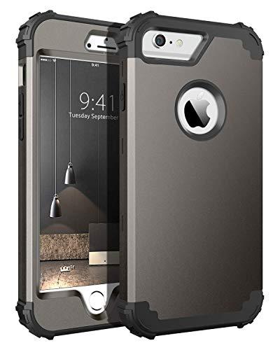 BENTOBEN Funda iPhone 6s Plus,Funda iPhone 6 Plus, 3 en 1 Carcasa Combinada PC Dura y Silicona TPU Resistente PC Bumper Antigolpes Protectora Cubierta Fundas para iPhone 6 plus/6s Plus 5.5''