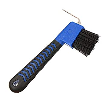 BOTH WINNERS Horse Hoof Pick Brush with Soft Touch Rubber Handle  Royal Blue