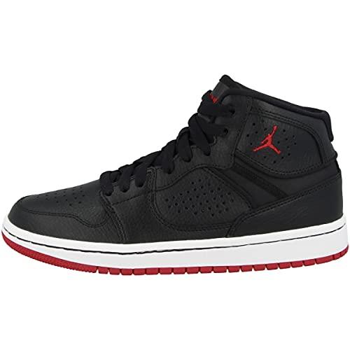 Nike Jordan Access, Basketball Shoe Uomo, Black/Gym Red-White, 42.5 EU