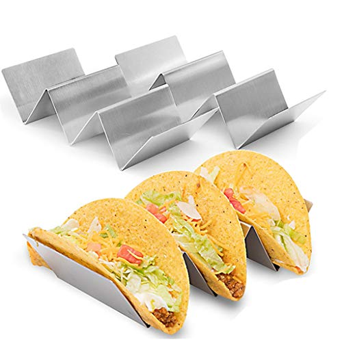 2 Pack Taco Holder Taco High Capacity Pizza Stand Rack Metal Wave Shaped...