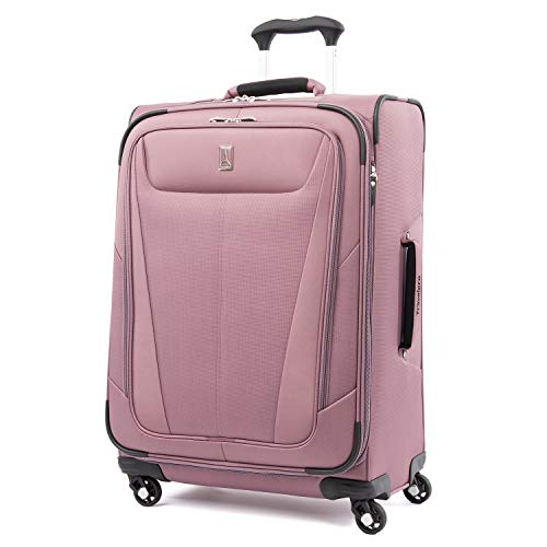 Travelpro Maxlite 5-Softside Expandable Spinner Wheel Luggage, Dusty Rose, Checked-Medium 25-Inch