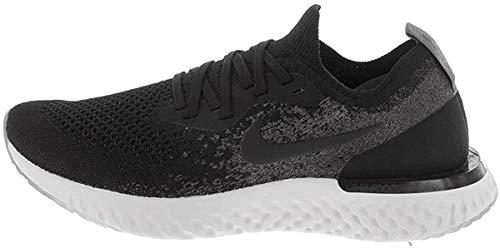 Nike Kids Epic React Flyknit (GS) Black/Black/Dark Grey Running Shoe 4 Kids US