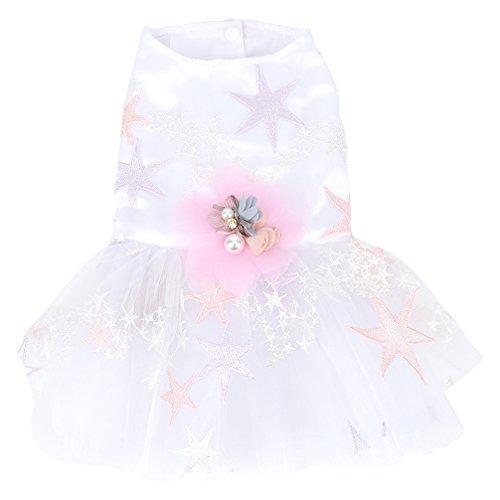 smalllee_lucky_store Hochzeitskleid für kleine Hunde, romantisches Tutu für kleine Hunde, Chihuahua-Kleidung für Mädchen