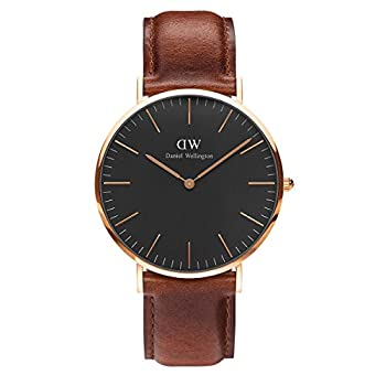 Daniel Wellington Classic St Mawes Rose Gold Watch 36mm Leather for Men and Women