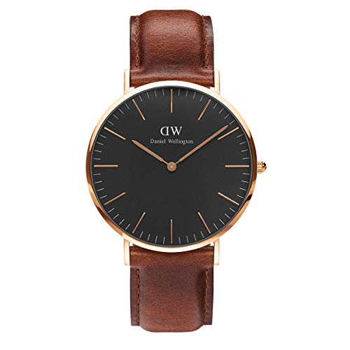 Daniel Wellington Classic St Mawes, Braun/Roségold Uhr, 40mm, Leder, für Herren