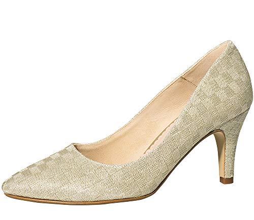Fiarucci Zapatos de novia Sabia - Zapatos de tacón acolchados para mujer,...