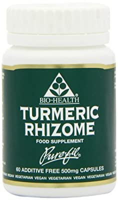 Bio-Health 500mg Turmeric Rhizome Powdered - Pack of 60 Capsules