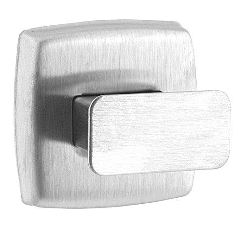 HEXOTOL-Patera da Porta a 1 Gancio in Acciaio Inossidabile, Acciaio Inox, Acciaio Inox, 5.2x5.2x5,2 cm
