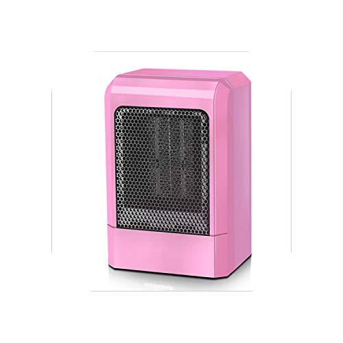 USB-Lüfter mit |500W Mini Tragbare Keramikheizung Elektrischer Heißlüfter Home Winterwärmer Für Innenheizung Camping Verstellbarer Thermostat-Pink-