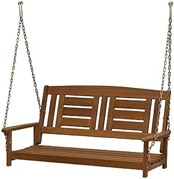 Furinno Tioman 2-Seater Hardwood Hanging Porch Swing