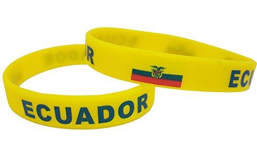 Forest Country Flagge Unisex Armband Silikon Gummi Sport Fashion Armband, Ecuador