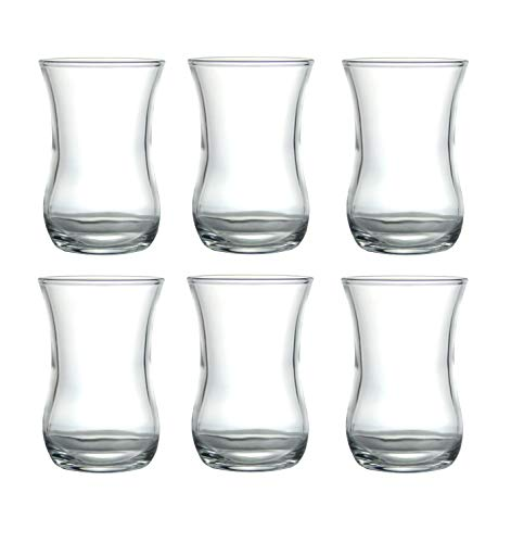 6x teegläser con asa de Pasabahce Cay Bardagi té vidrio teeglas vasos