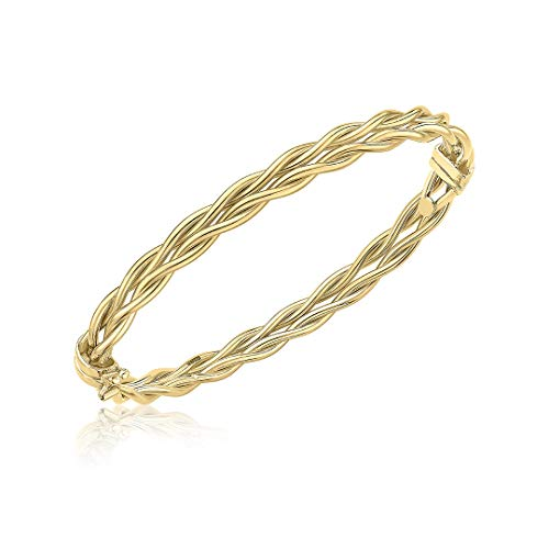 Carissima Gold Women's 9ct Yellow Gold 5.5mm Double Twist Bangle