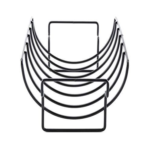 DANDANdianzi Antiadherente de Metal para Barbacoa Herramientas del Filete titulares Rejilla de la Parrilla Soporte Asar Costilla Rack Accesorios de Cocina