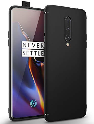 BENNALD Hülle für Oneplus 7 Pro Hülle, Soft Silikon Schutzhülle Case Cover - Premium TPU Tasche Handyhülle für Oneplus 7 Pro(Schwarz,Black)