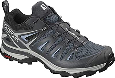 Salomon Women's X Ultra 3 Hiking Shoes, Stormy Weather/Ebony/Cashmere Blue, 9.5