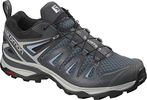 Salomon Women's X Ultra 3 Hiking Shoes, Stormy Weather/Ebony/Cashmere Blue, 8.5