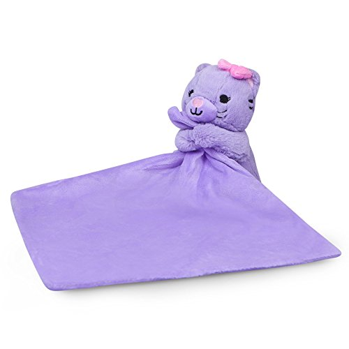 Waddle Purple Baby Blanket Security Blanket Plush Cat Toy Baby Rattle Baby Toy