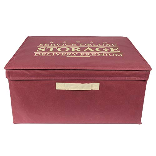 JE CHERCHE UNE IDEE - Boite de Rangement Pliable Bordeaux 50L - Dimensions : 50 x 40 x 25 cm