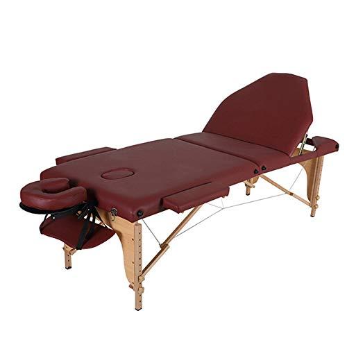 PQXOER Table de Massage Table de Massage Lit Pliant Portable Beauté Lit Spa Visage Lightweight Lit...