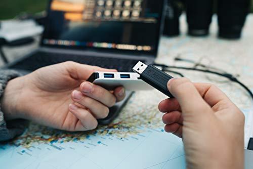 Verbatim PinStripe USB-Stick - 16 GB, High-Speed 3.0-Schnittstelle, externer Speicherstick mit Schiebefunktion, schwarz