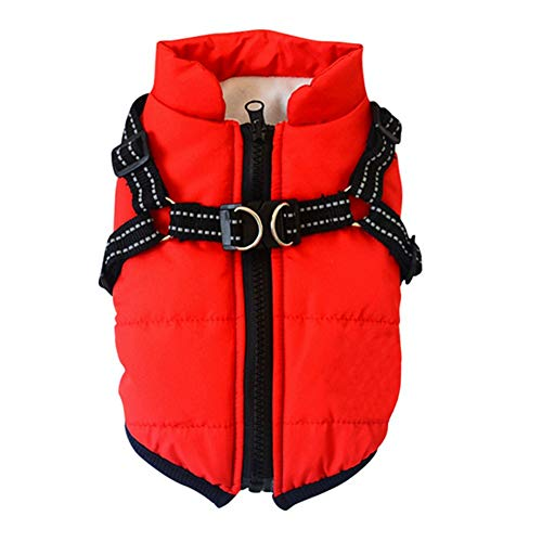 Poseca Dog Coat with a Harness for Small Dogs