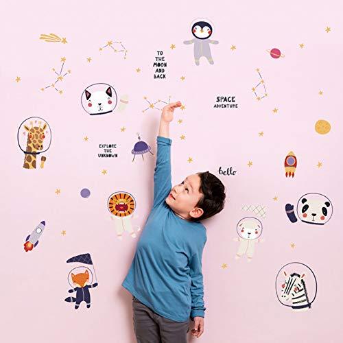 QINGYU Pegatinas de Pared ,Inyección de tinta de dibujos animados Pegatinas de pared de dibujos animados extraíbles Pegatinas de pared para interiores de casas para habitaciones de niños Adhesivos Infantiles De Pared