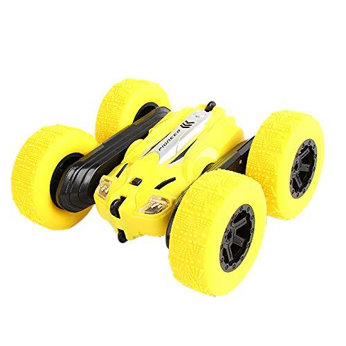 TOOGOO RC Auto Schnelle Geschwindigkeit 3D Flip Fern Bedienung Auto Drift Buggy Crawler Batterie Betriebene Stunt Maschine Funk Gesteuerte Autos Gelb