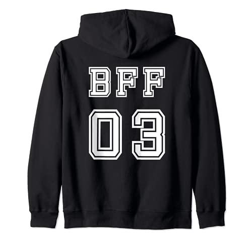 BFF 03 trajes a juego para Bestie Sisters Girls Friendship Sudadera con Capucha
