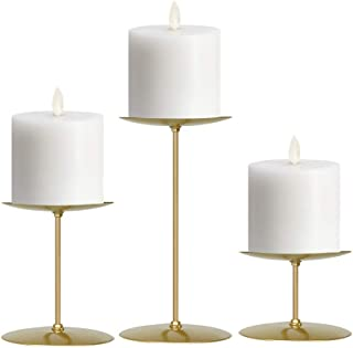 smtyle Gold Candle Holders Set of 3 Candelabra with Iron-3.5