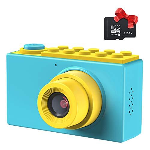 Kriogor Fotocamera digitale per bambini, fotocamera digitale con HD 1080/8 Megapixel, LCD da 2', scheda TF da 256 m, colore: blu
