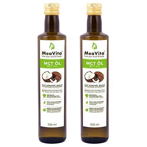 MeaVita Paquet de 2 Huile MCT 500 ml 1 x 1000 g