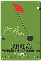 カナダの常緑の遊び場 メタルポスター壁画ショップ看板ショップ看板表示板金属板ブリキ看板情報防水装飾レストラン日本食料品店カフェ旅行用品誕生日新年クリスマスパーティーギフト
