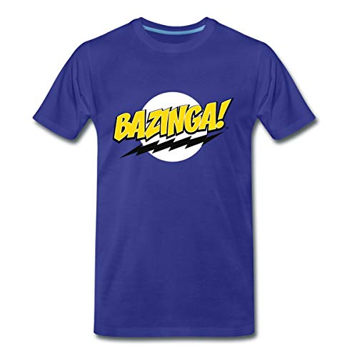 The Big Bang Theory Bazinga Spruch Sheldon Männer Premium T-Shirt, 3XL, Königsblau