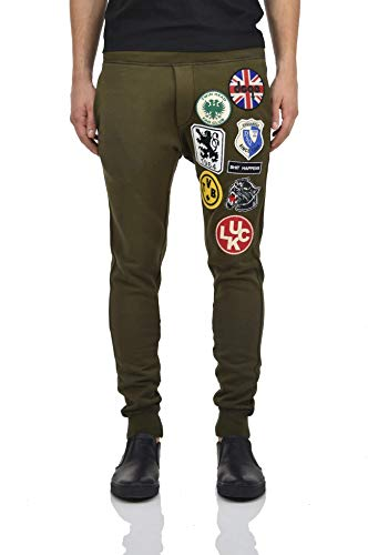 Dsquared2 Tracksuit Pants Green with Luck Patches Herren - Größe: S - Farbe: Grün - Neu