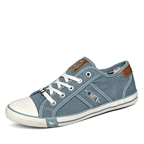 MUSTANG Damen 1099-302 Sneaker, Blau (Himmelblau 807), 38 EU