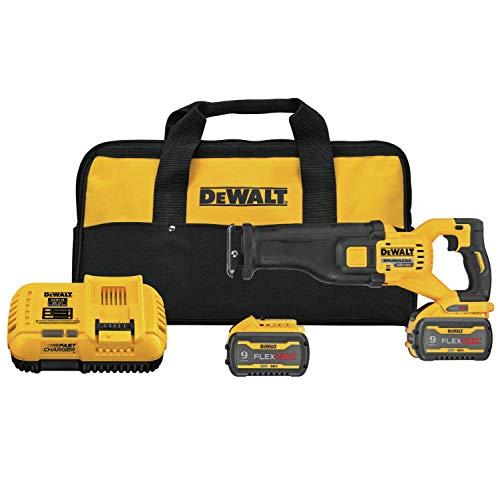 DEWALT FLEXVOLT 60V MAX Reciprocating Saw, Cordless Kit (DCS389X2) (Renewed)