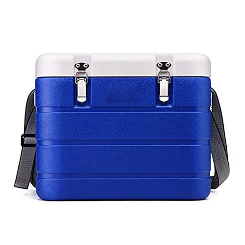 NC Petite glacière Portable, boîte de pêche en mer adaptée à la pêche en Plein air Camping Sortie Réfrigération médicale Barbecue extérieur 6L Bleu LKWK