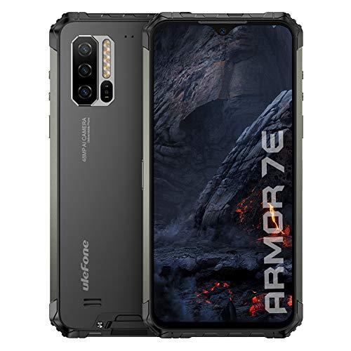 Ulefone Armor 7E Móvil Resistente 2020, Helio P90 Octa Core 4GB RAM +128GB ROM Cámara 48MP, 6.3'' FHD+, Robusto Smartphone Android 9.0 IP68,Batería 5500mAh, Carga Inalámbrica 10W, NFC/OTG/GPS