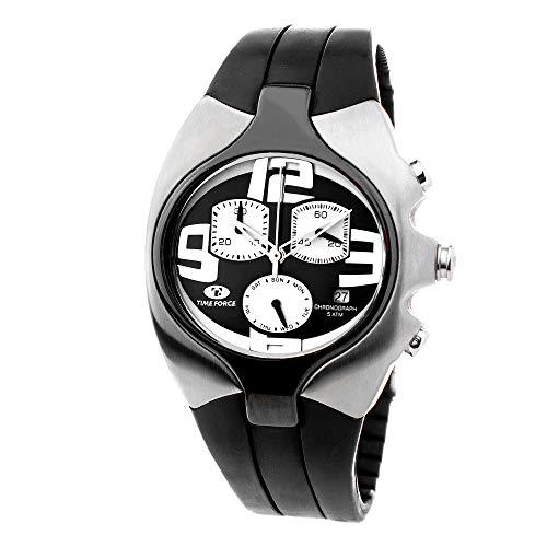 TIME FORCE Reloj Analógico para Hombres de Cuarzo con Correa en Caucho TF2640M-04-1