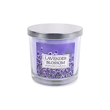 DII Home Traditions 3-Wick Evenly Burning Highly Scented 4x4 Large Jar Candle 45+ Hour Burn Time (14.5 oz) - Lavender Blossom Scent