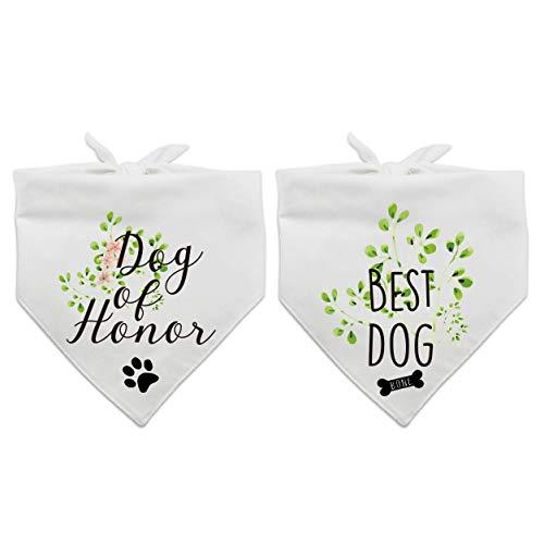 family Kitchen Dog of Honor, Best Wedding Dog Bandana, Bridal Party Dog Bandana, Wedding Photo Prop, Pet Scarf Accessories
