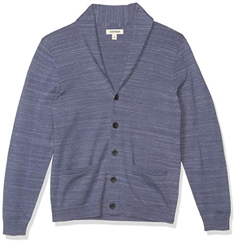 Goodthreads Soft Cotton Cardigan Summer Sweater Sweaters, Blu Denim, S